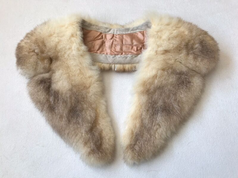 Vintage Genuine Fur Collar For Coat