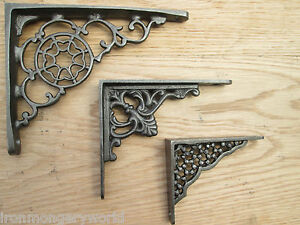 Cast-Iron-Decorative-Victorian-Shelf-Support-Book-Sink-Toilet-Cistern-Bracket