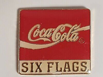 Coca-Cola Coke Six Flags Lapel Pin
