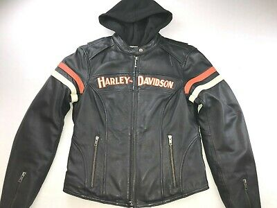 HARLEY DAVIDSON WOMEN MISS ENTHUSIAST 3-IN-1 LEATHER JACKET 98142-09VW SMALL