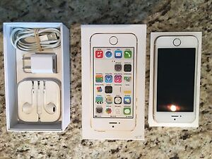 iPhone 5S, 32G, Blanc/or, Débarré