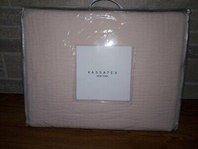 Kassatex Laffayette Coverlet, Dusty Rose, Size King