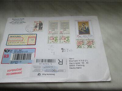 Tschechei Brief lt. Foto plus 100 Briefmarken CSSR Schnäppchen  lt. Foto