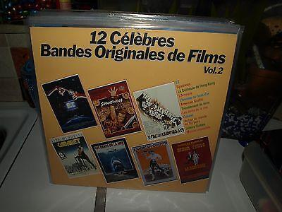 12 CELEBRES BANDES ORIGINALES DE FILMS VOL 2 vinyl film ost themes album