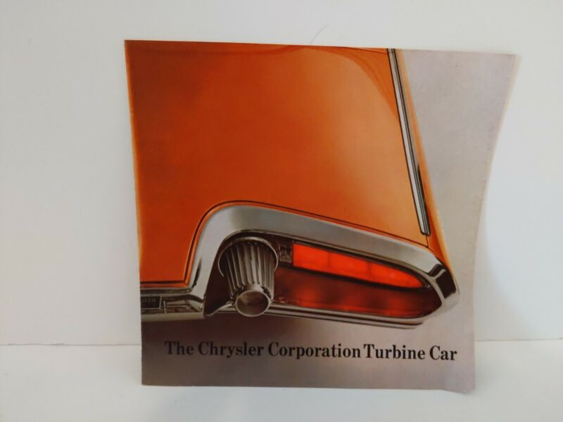 1963 Chrysler Turbine Car Brochure Flyer * Not Revised Version *