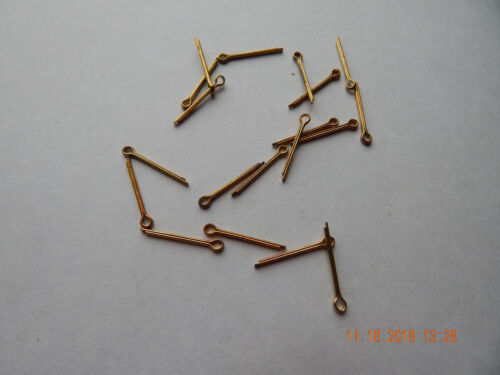 "BRASS COTTER PINS 1/16 x 3/4"" 25  PCS. NEW-NOS HAS SOME TARNISH"