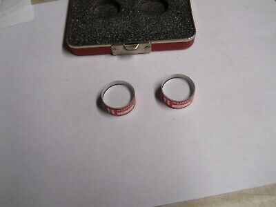 Starrett Optical Parallel Set Sapphire  In Case  Used