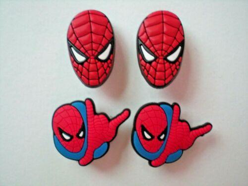 s Shoe Charm Plug Buttons Fit WristBands Bracelet Belts 4 SPIDERMAN