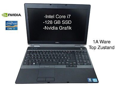 Dell Latitude E6530 i7 3630 4gb 128GB SSD NVidia DVD 15,6  HD Win10 Docking Mwst