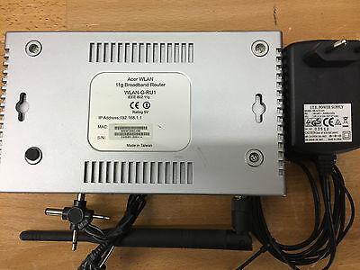Wlan-breitband-router (ACER WLAN Breitband Router 11g , Farbe Silber inkl. Netzteil)
