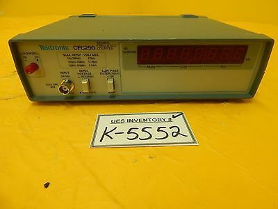 Tektronix Cfc250 100 Mhz Frequency Counter Used Working