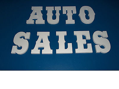 """Western 10"""" style foam letters, for crafts,signs etc"""