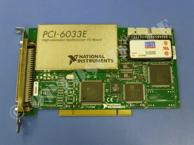National Instruments PCI-6033E NI DAQ Card, Multifunction, 64ch Analog Input