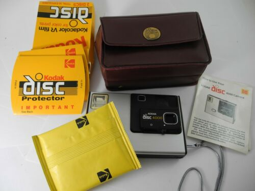 Vintage Kodak Disc 4000 Camera Outfit CAMERA WORKS with Unopened Film Pack &MORE