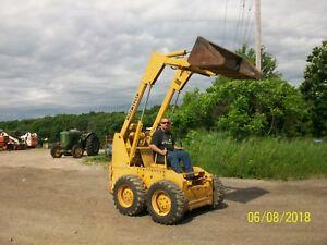 John Deere 24 Skid Loader bobcat Skidsteer NO RESERVE wheel tractor farmall a b