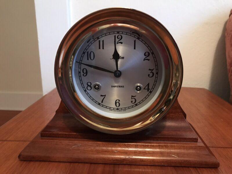 "Vintage CHELSEA CLOCK COMPANY 4.5"" Boston Shipstrike Clock"