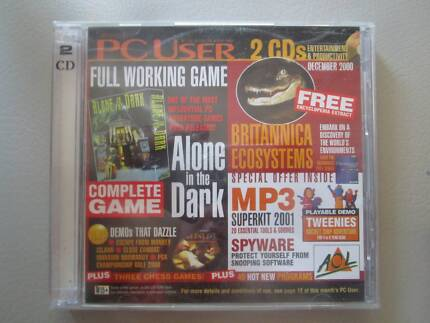 """PC User December 2000 With Complete Game """"Alone In The Dark"""""""