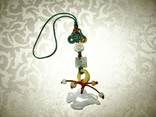 Amulet Chinese Feng Shui Hand Carved Fetish Jade Horse Charms Bookmark Pendant