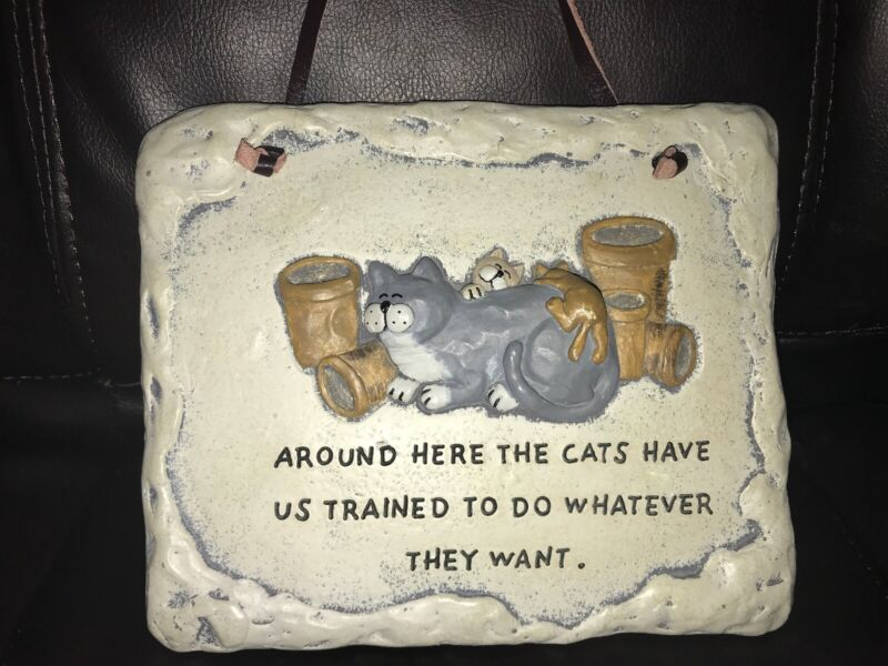 """Crazy Mountain Exclusive Designs Cat Wall Plaque 8"""" x 6.5"""" Gift For Cat lovers"""