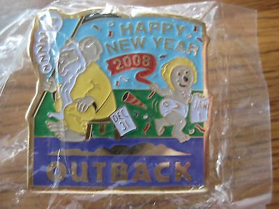 Outback Steakhouse Restaurant Happy New Year 2008 Pin Pinback NIP