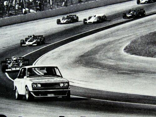 "1972 Datsun 510 Racing California 500 Original Print Ad 8.5 x 11"""