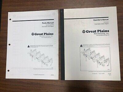 Great Plains Sub-soiler Inline Ripper Operators Manual Parts Manual