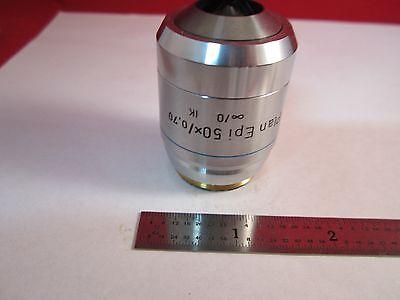 Microscope Objective Reichert Fluor 50x Polycon Epi Infinity Optics Bin11-dt-e