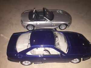 Diecast 1/18th scale bmw diecast model cars (z4 and 850i)