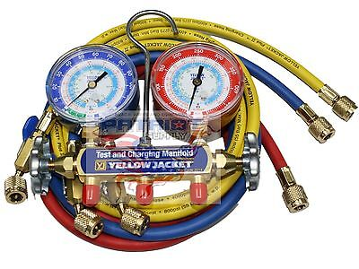 Yellow Jacket 42205 Manifold 3-18 Gauges 60 Hoses Psi R22134a404a F