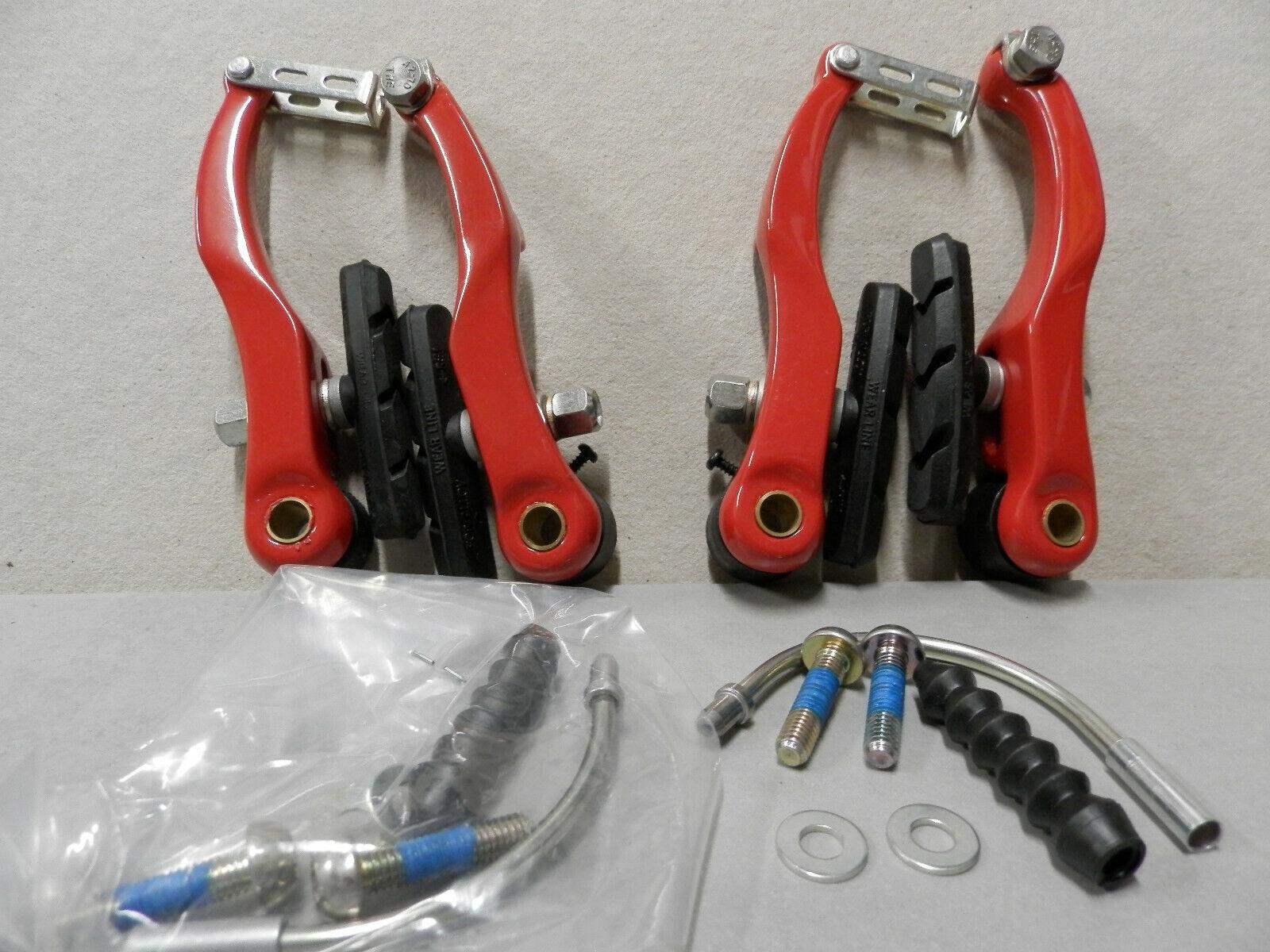Fahrradbremse Felgenbremse Reparatur Bremse Komplet m Zug u Hebel Satz 15105