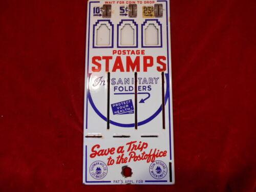 NOS Shipman Countertop Stamp Vending Machine Porcelain Front Replacement