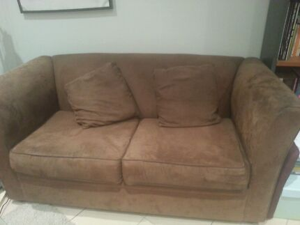 Dark brown 2 seater suede sofa Matraville Eastern Suburbs Preview