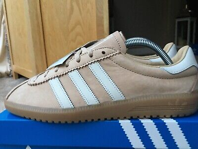 Adidas Bermuda 2017 Size 8 80s Football Casuals Light Brown With Gum Sole Bnib