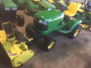 "John deere x585 with 46"" snowblower"
