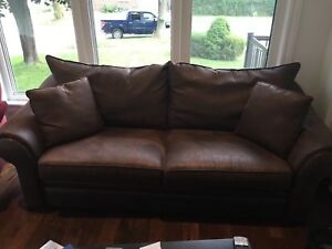 MICROFIBER SOFA - BROWN - with PILLOWS!