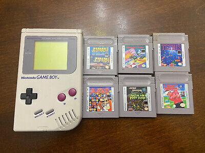Nintendo Original Game Boy Handheld System DMG-01 with 6 Games-please Read!!