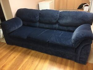 2 blue couches and coffee table $300 for all