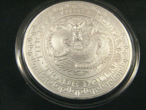 2019 Silver 1 oz St. Helena Chinese Dragon Trade Dollar East India Company BU 5K