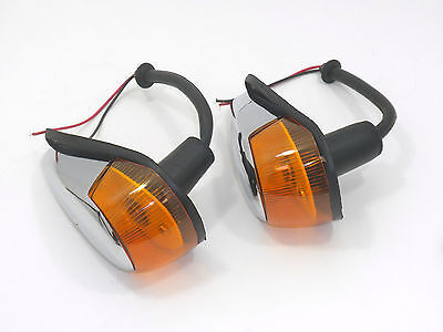 Front Signal Assembly Lens - TURN SIGNAL ASSEMBLY WITH AMBER LENS FITS VOLKSWAGEN TYPE1 BUG 1964-1969 2pcs