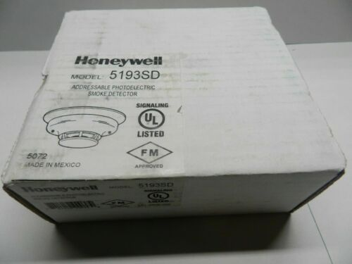 Honeywell 5193SD Photoelectric Smoke Detector - NIB