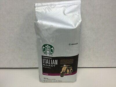 Starbucks Italian Roast Coffee, Dark Roast, Ground Coffee, 1 Bags, 20oz, 10/2020