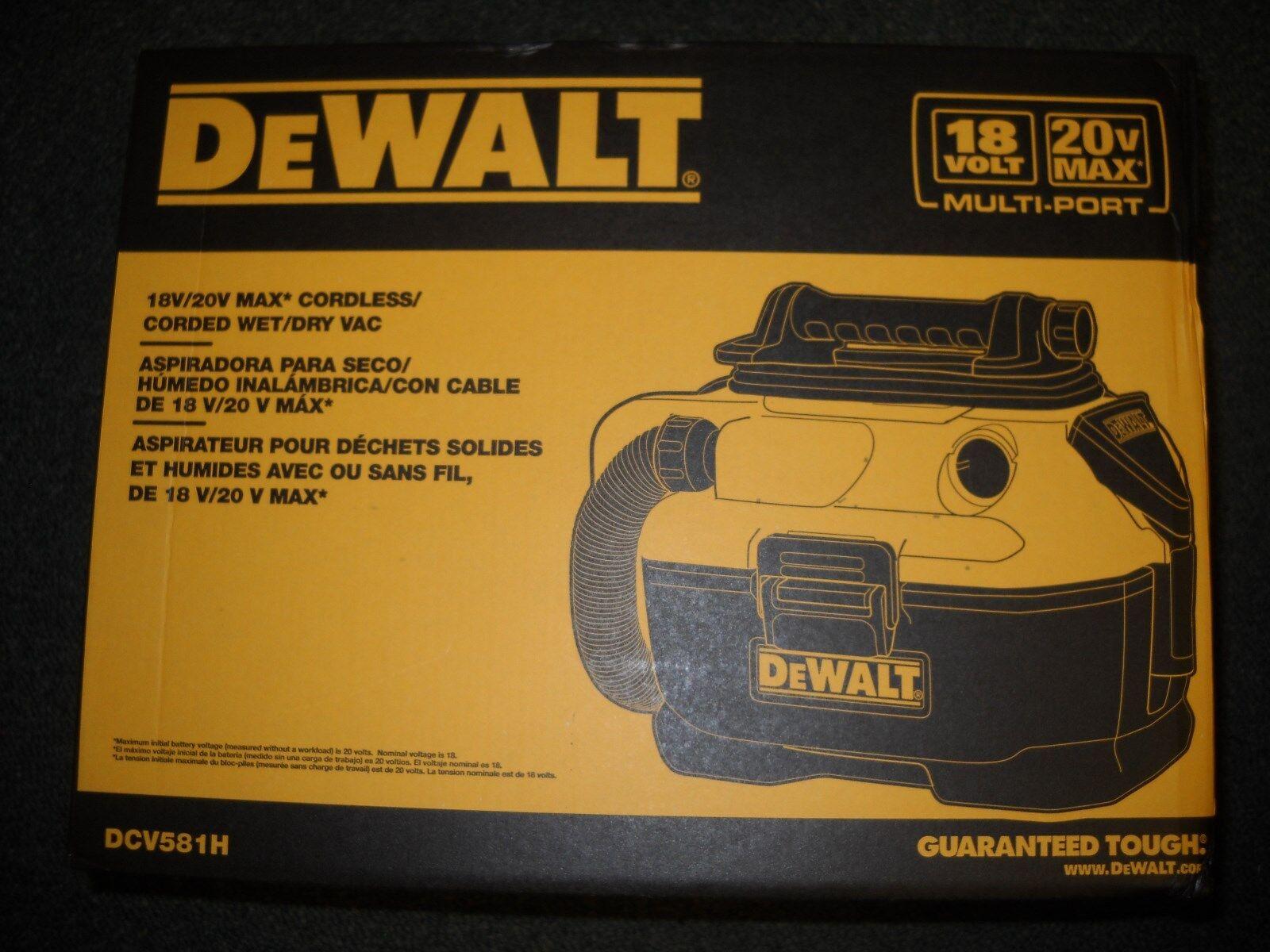 DEWALT DCV581H 18 20 Volt MAX Cordless Corded Wet-Dry Vacuum
