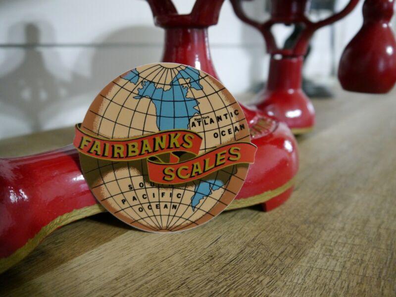 Large Fairbanks Scales Vintage Style Restoration Decals ( 2 Decals )