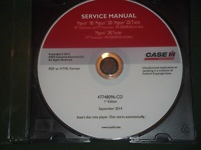 Case Magnum 180 200 220 240 Tractor Service Shop Workshop Repair Book Manual Oem