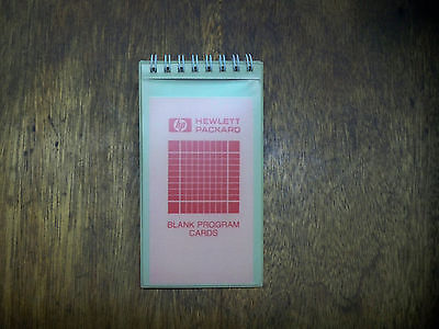 40 BLANK HP CALCULATOR PROGRAM CARDS WITH HP SLEEVE!