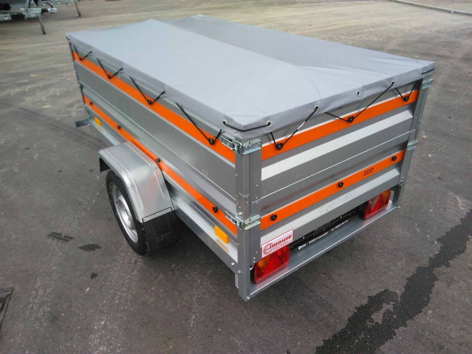 >>> AKTION Pkw- Anhänger 750 kg, 200x106x32cm + Aufsatz 32 cm + Plane + Stützrad