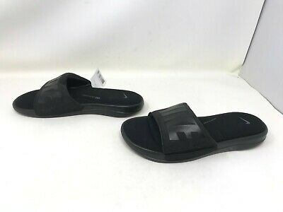 Mens Nike (AR4494-002) Ultra Comfort 3 black slides sandals (442C-B)
