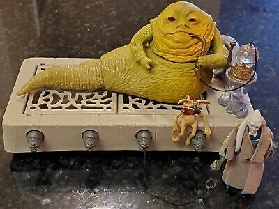 Jabba The Hutt Kenner Vintage COMPLETE Star Wars Playset with Bib Fortuna Figure