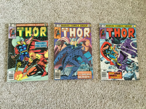 Thor Lot of 3 Marvel Comic Books