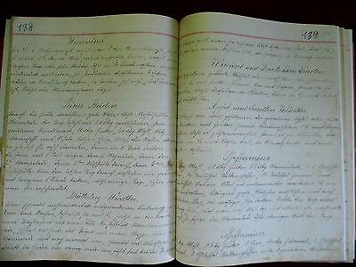 Backbuch antik, handgeschrieben, alte Schrift, Kochbuch antik, 3 verschiedene